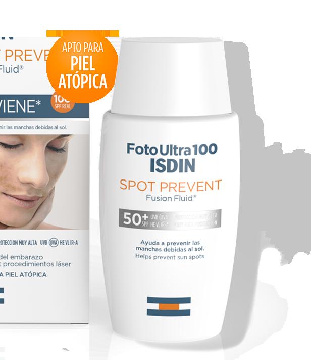 crema protectora foto ultra 100 isdin spot prevent
