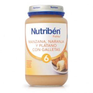 potito nutribén® de manzana, naranja, y plátano con galletas